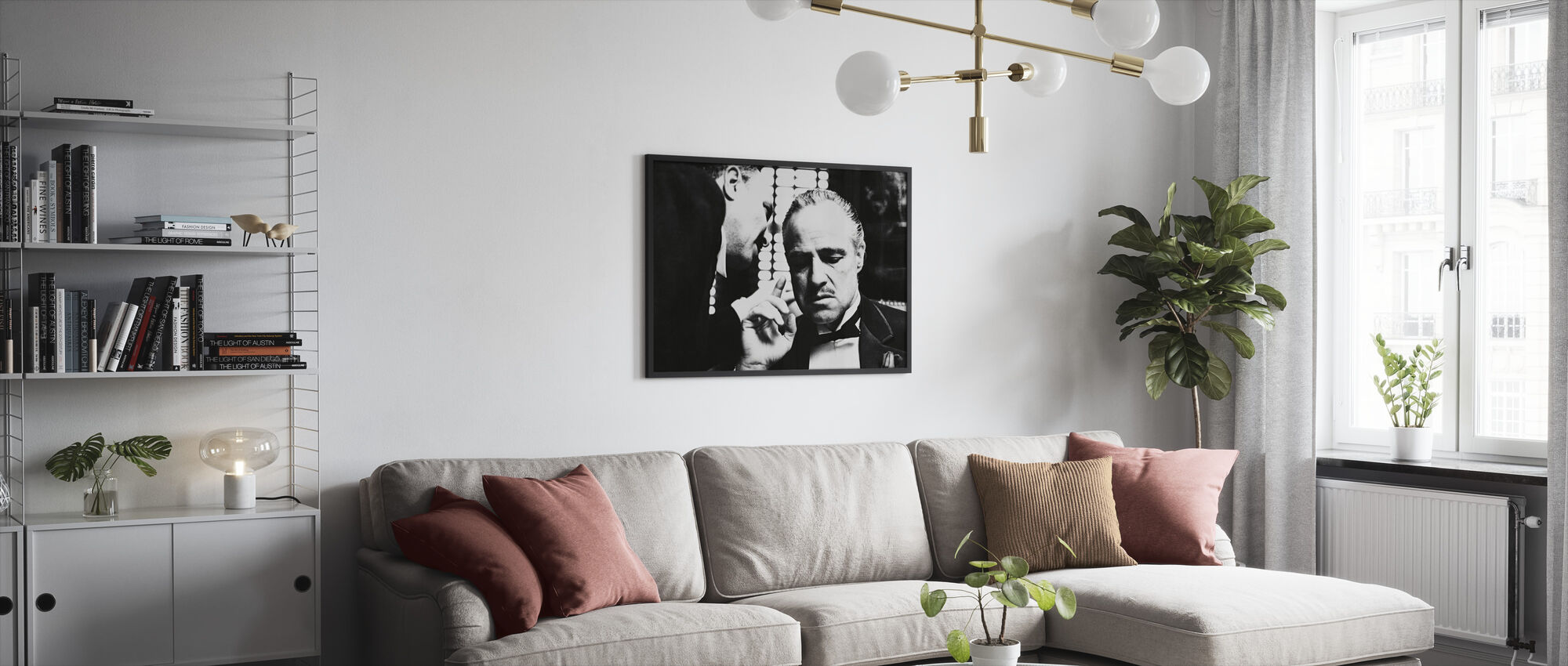 Marlon Brando in de Godfather - Ingelijste print - Woonkamer