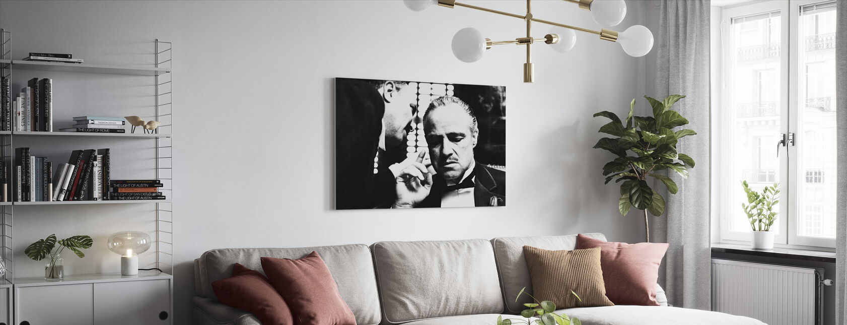 Marlon Brando in de Godfather - Canvas print - Woonkamer