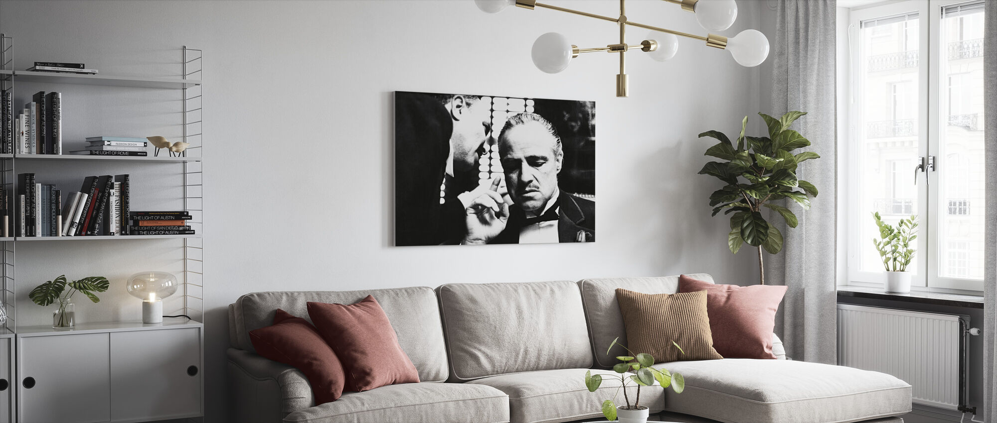 Marlon Brando in the Godfather - Canvas print - Living Room