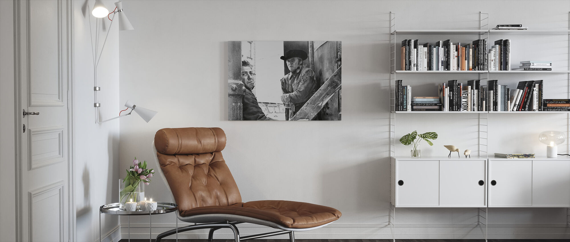 Dustin Hoffman and Jon Voight in Midnight Cowboy - Canvas print - Living Room