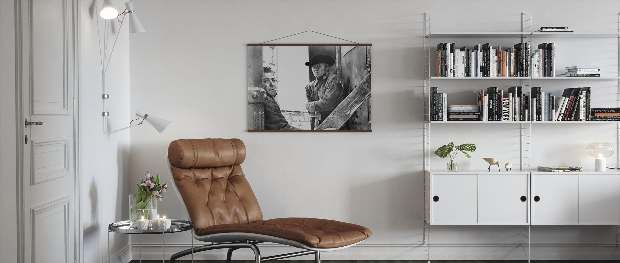Dustin Hoffman and Jon Voight in Midnight Cowboy - Poster - Living Room