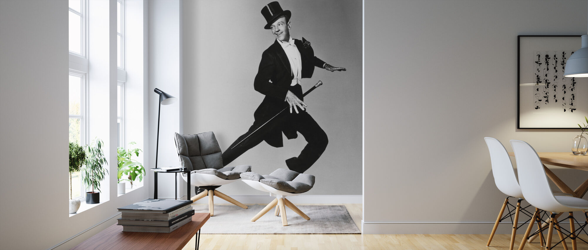 Fred Astaire - Behang - Woonkamer