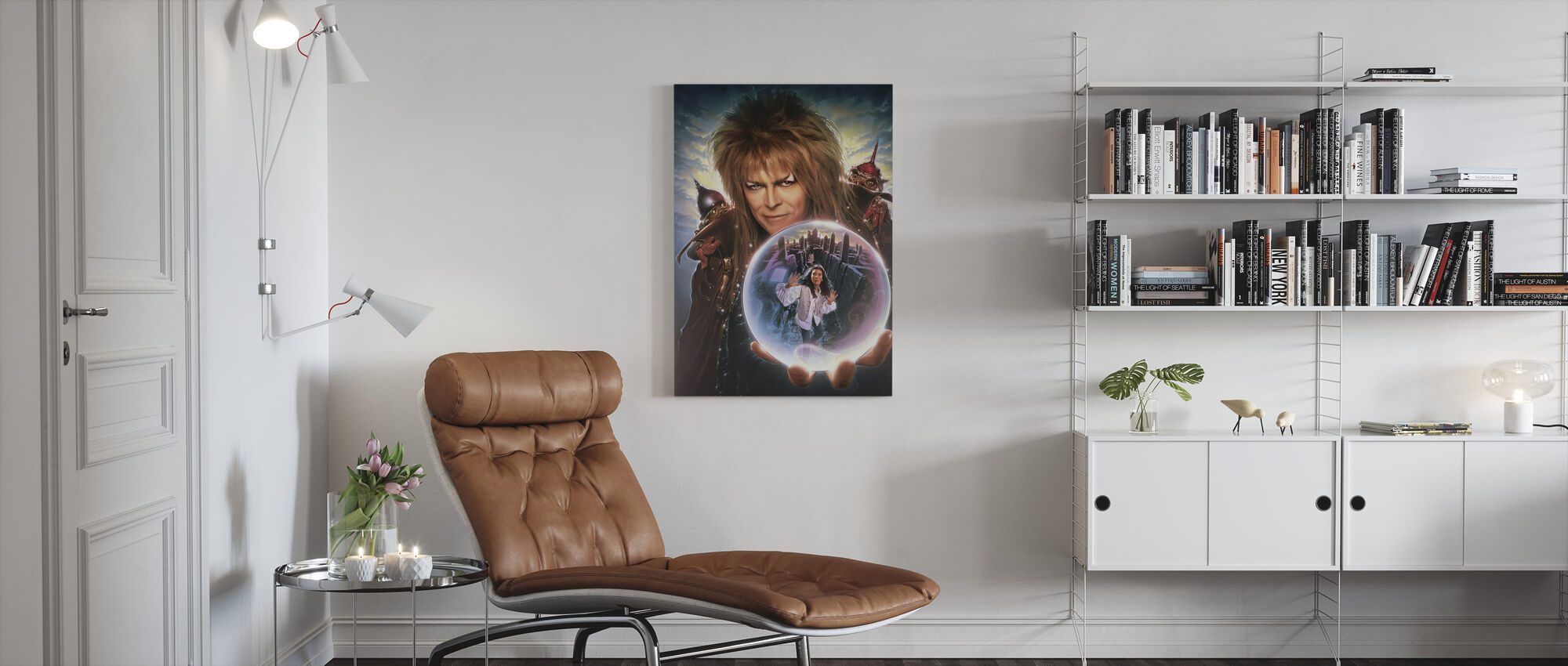 David Bowie in Labyrinth - Canvas print - Living Room