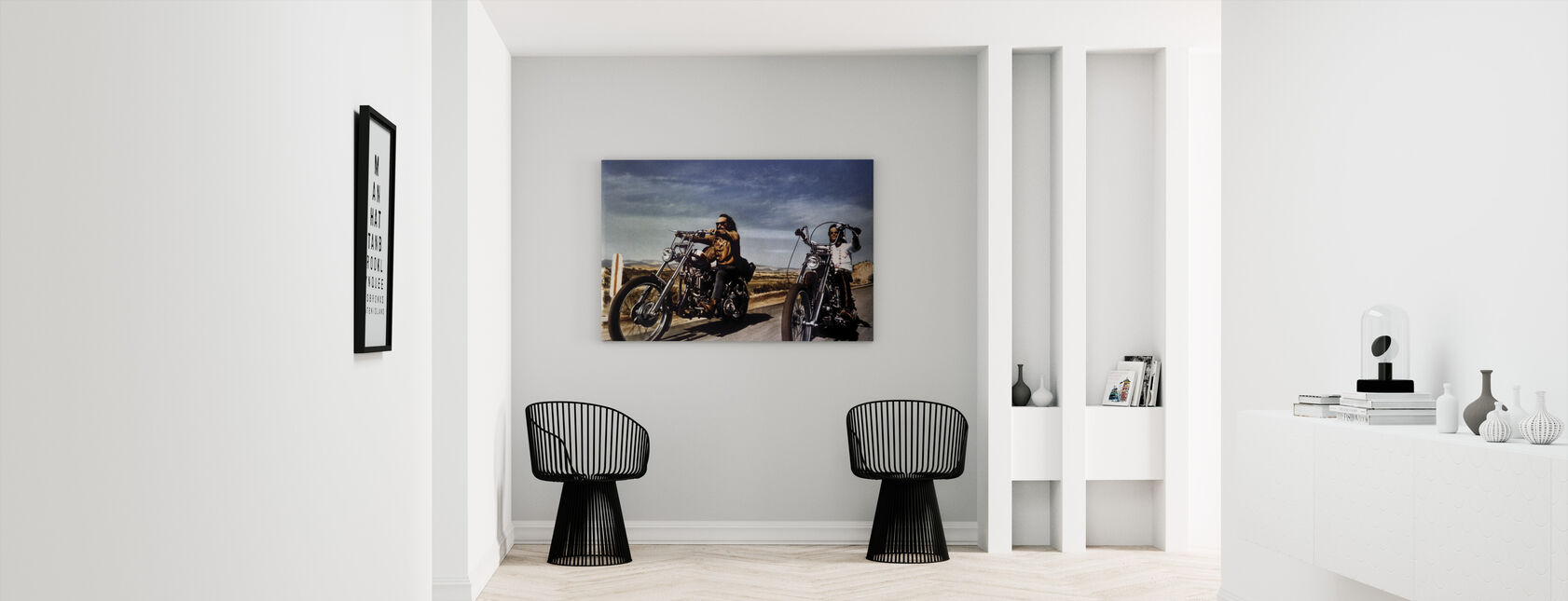 Dennis Hopper and Peter Fonda in Easy Rider - Canvas print - Hallway