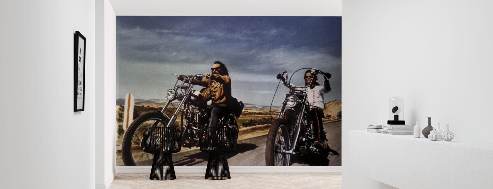 Dennis Hopper och Peter Fonda i Easy Rider - Tapet - Hall