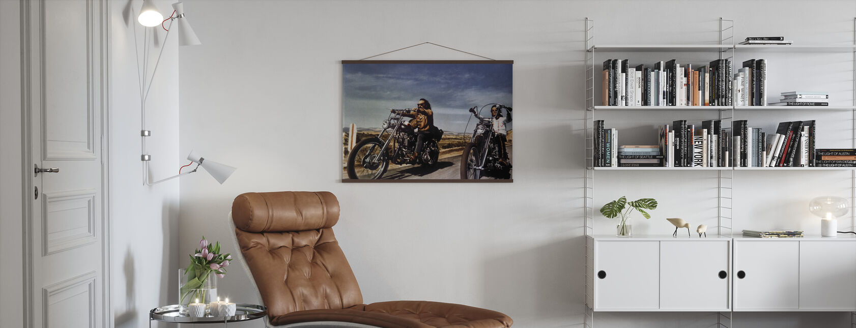 Dennis Hopper und Peter Fonda in Easy Rider - Poster - Wohnzimmer