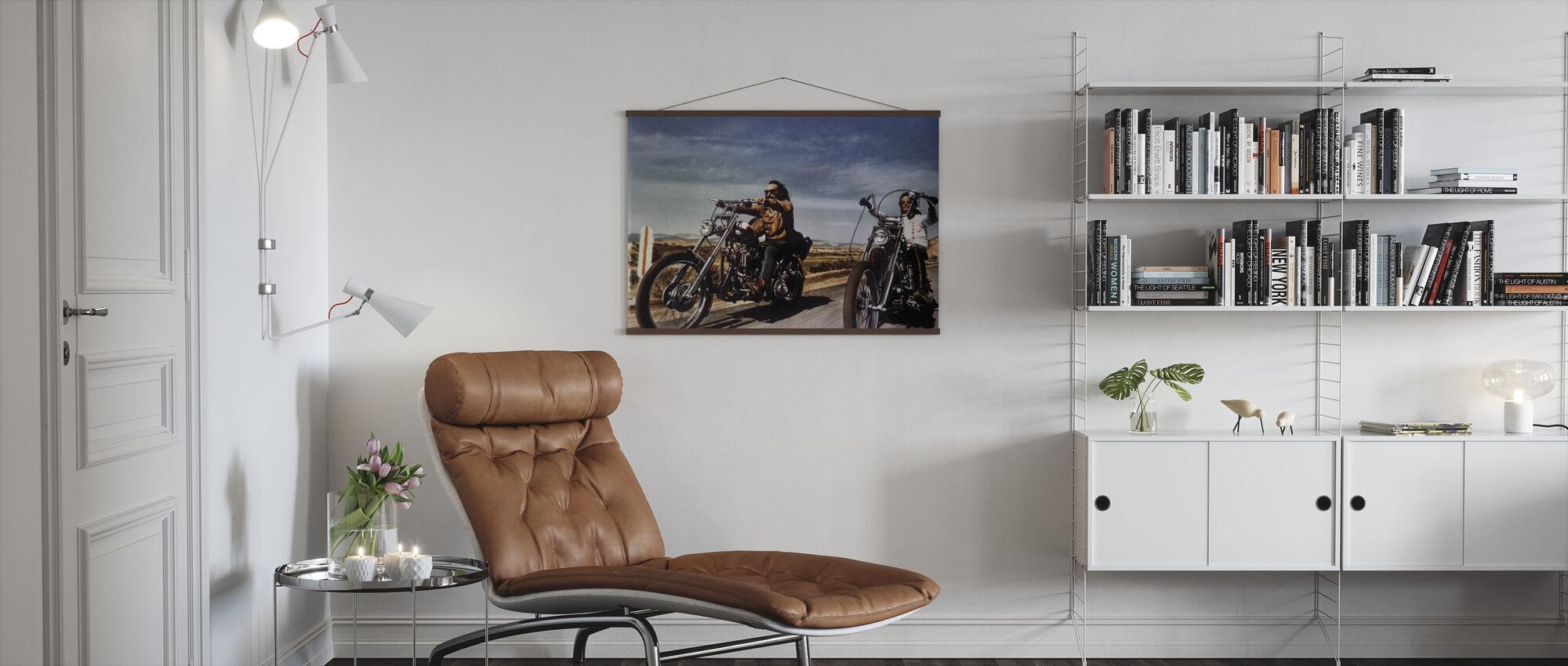 Dennis Hopper och Peter Fonda i Easy Rider - Poster - Vardagsrum