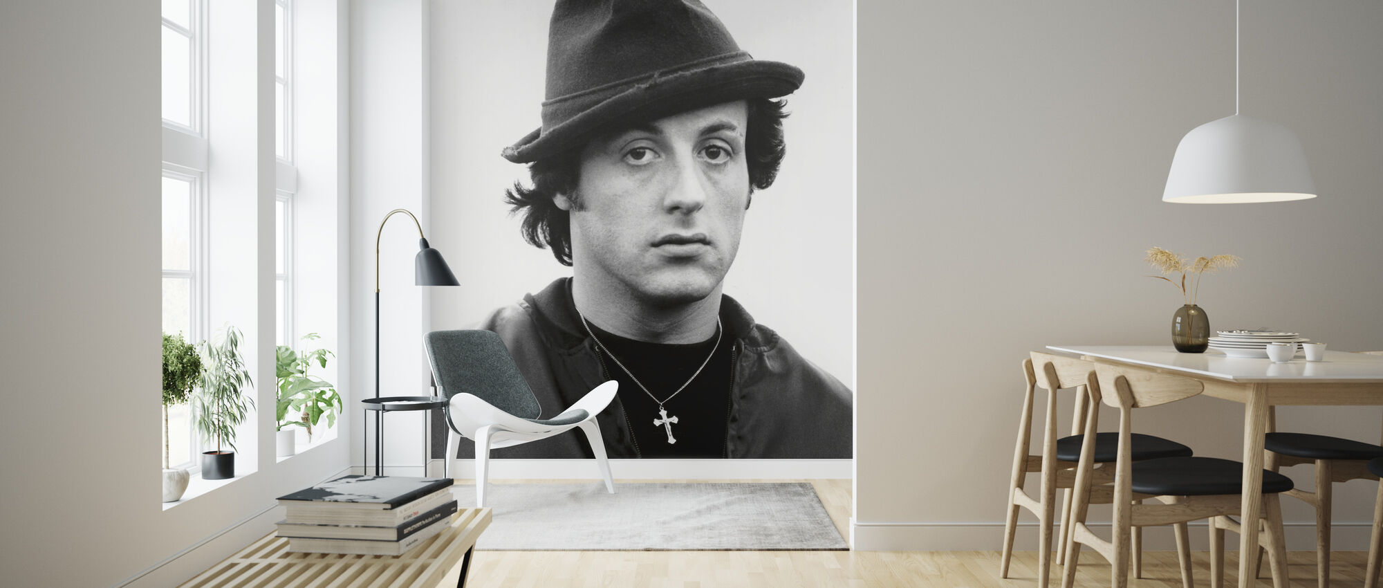 Sylvester Stallone en Rocky II - Tapetti - Olohuone