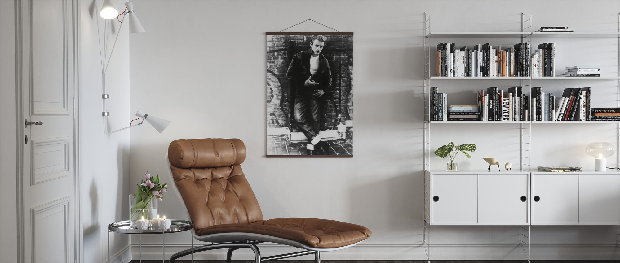 James Dean in Rebel Without a Cause - Poster - Living Room