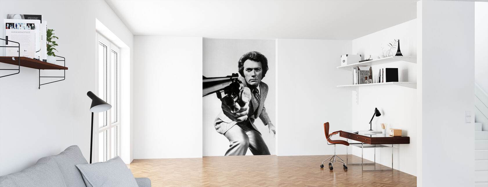 Clint Eastwood i Magnum Force - Tapet - Kontor