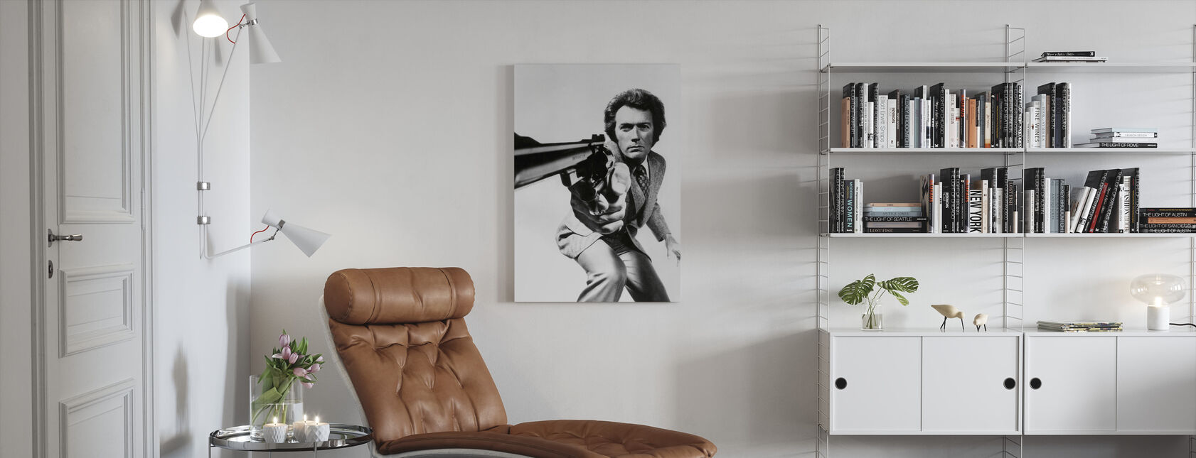 Clint Eastwood in Magnum Force - Canvas print - Living Room