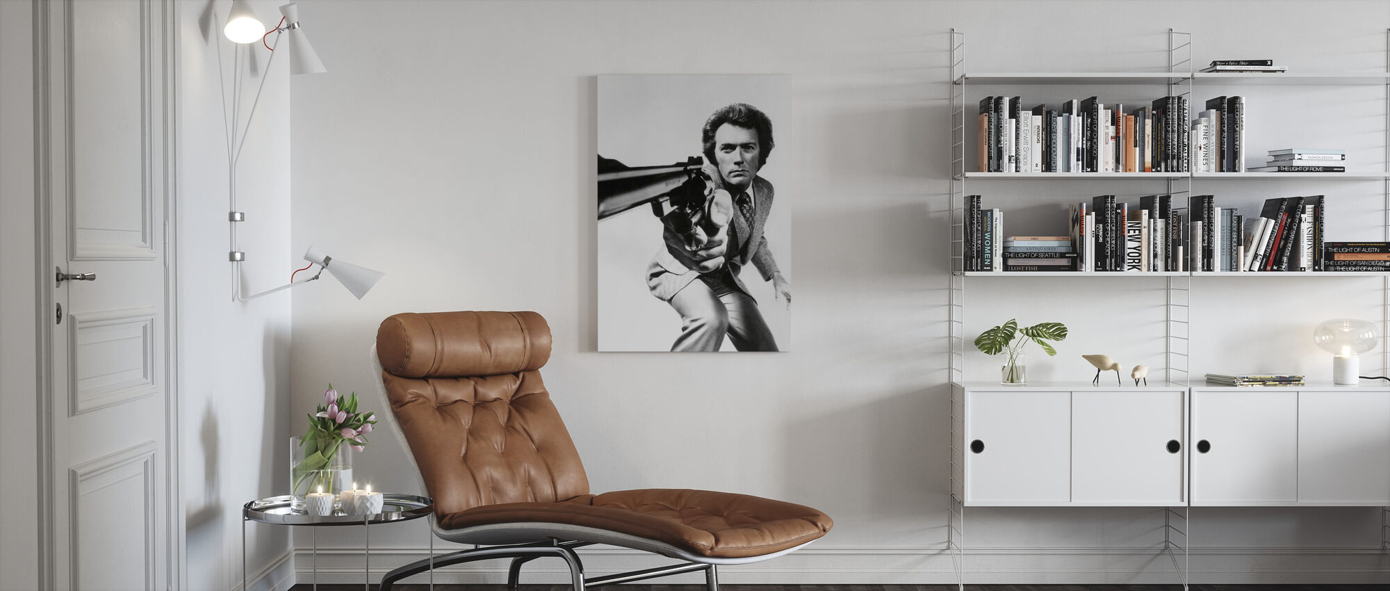 Clint Eastwood i Magnum Force - Canvastavla - Vardagsrum