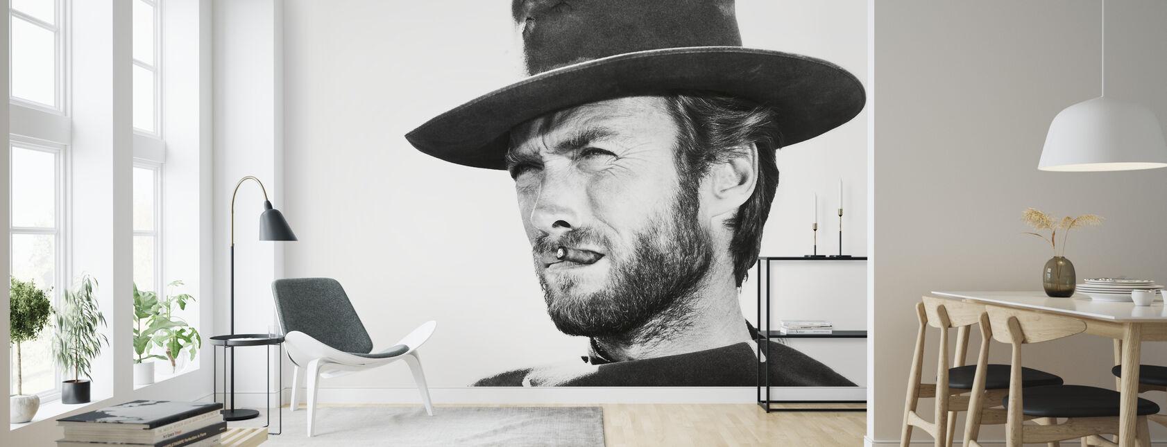 Clint Eastwood i gott det dåliga och det fula - Tapet - Vardagsrum
