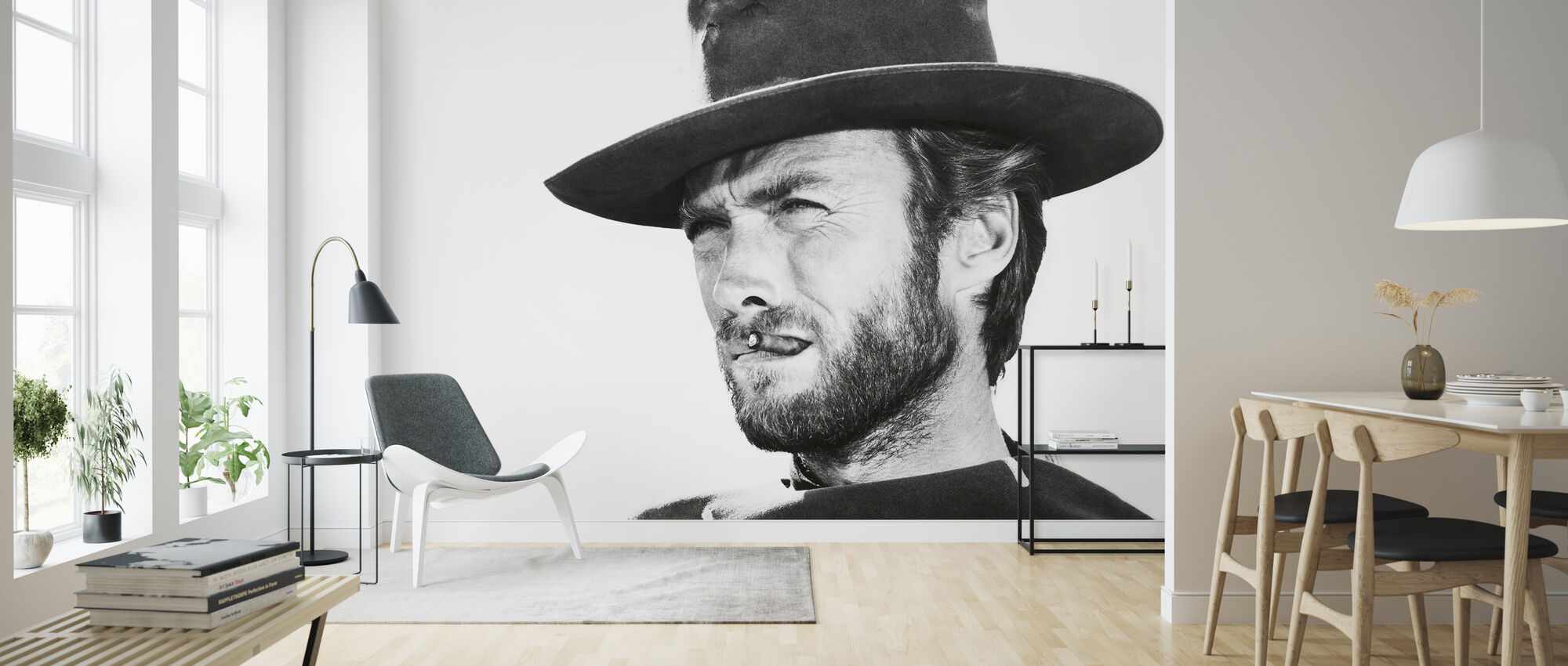Clint Eastwood in Good the Bad and the Ugly - Wallpaper - Living Room