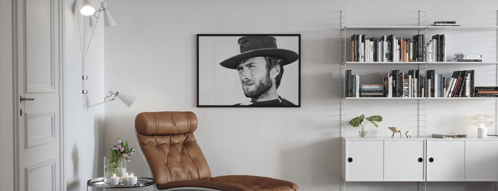 Clint Eastwood in Gut das Schlechte und die Hässliche - Gerahmtes bild - Wohnzimmer
