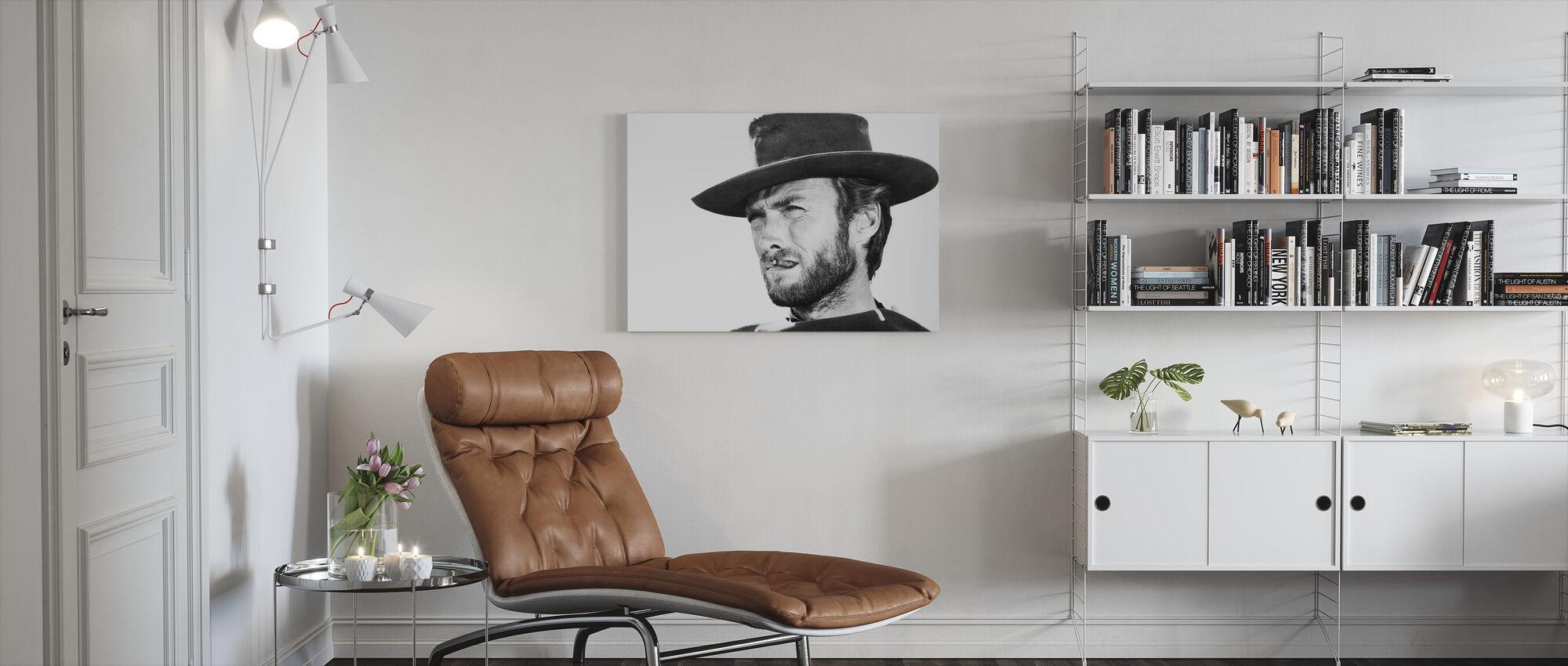 Clint Eastwood i gott det dåliga och det fula - Canvastavla - Vardagsrum