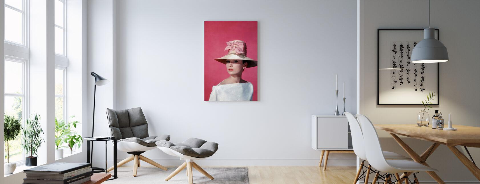 Audrey Hepburn i Funny ansigt - Billede på lærred - Stue