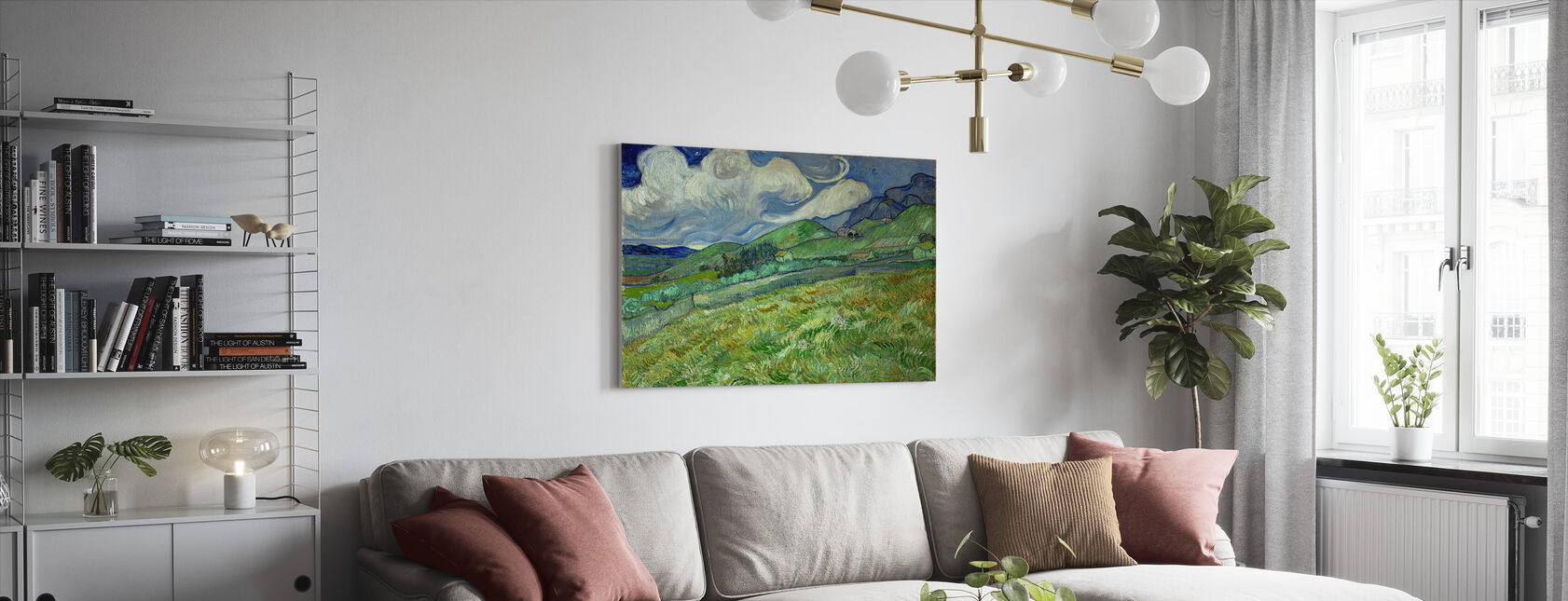 Landscape from Saintremy - Canvas print - Living Room