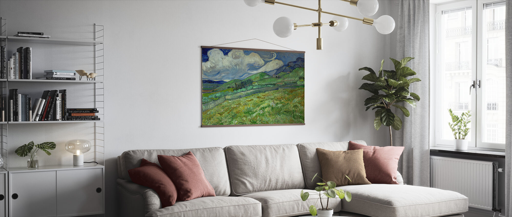 Landscape from Saintremy - Poster - Living Room