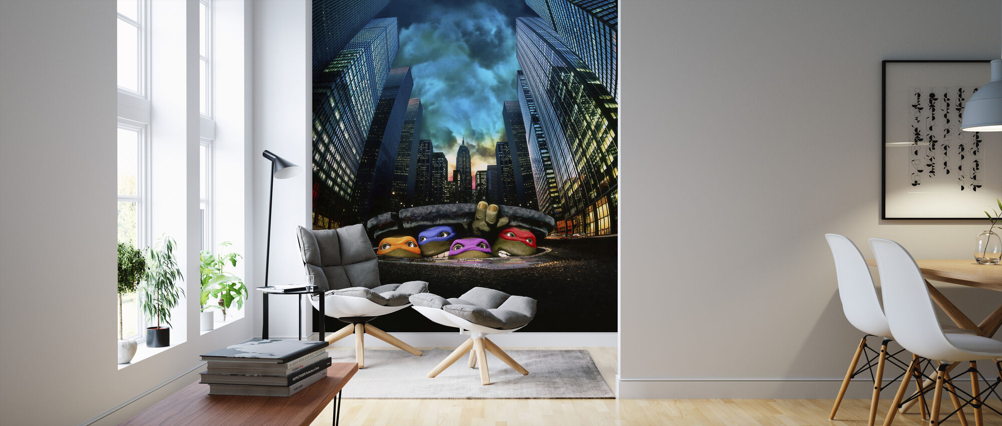 Teenage Mutant Ninja Turtles - Wallpaper - Living Room