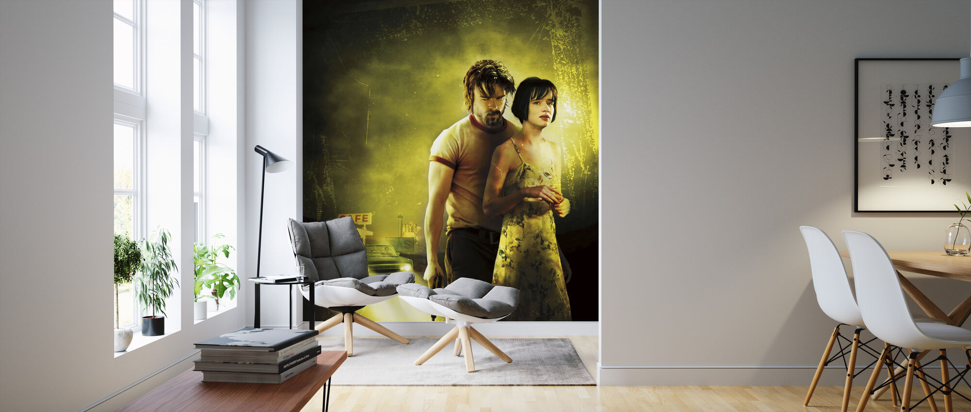 Juliette Lewis and Brad Pitt in Kalifornia - Wallpaper - Living Room
