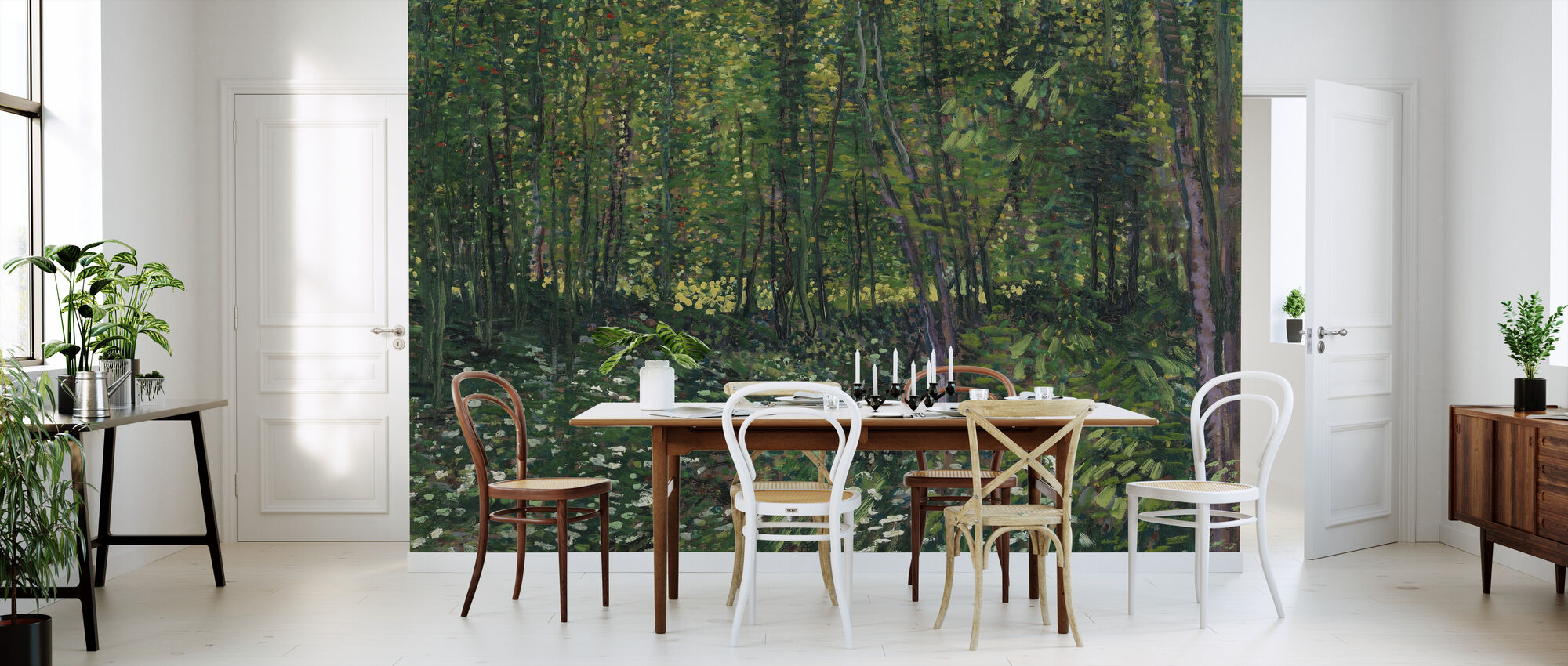 Trees and Undergrowth - Wallpaper - Kitchen