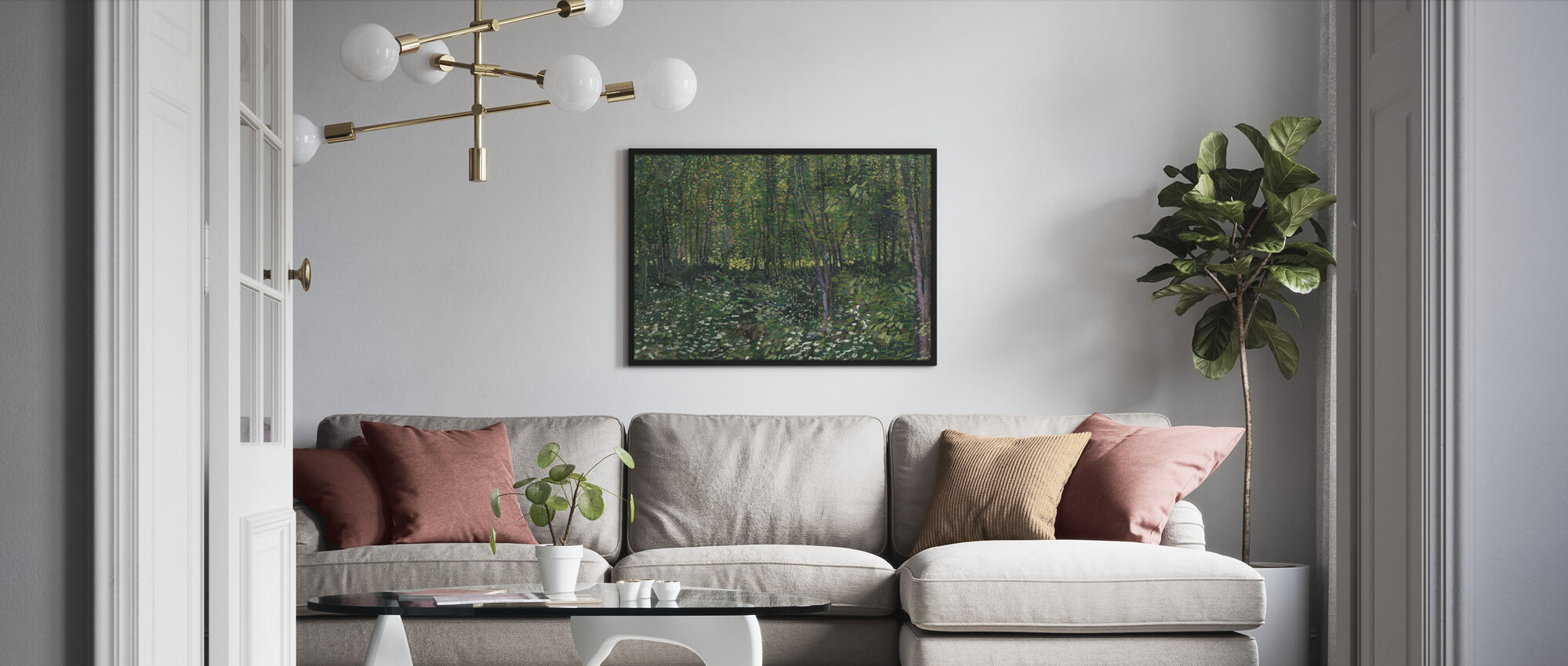 Trees and Undergrowth - Framed print - Living Room