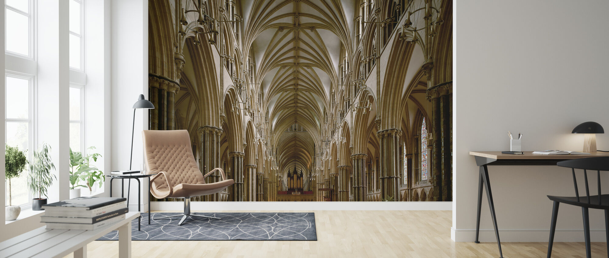Center Nave of Lincoln Cathedral - Wallpaper - Living Room