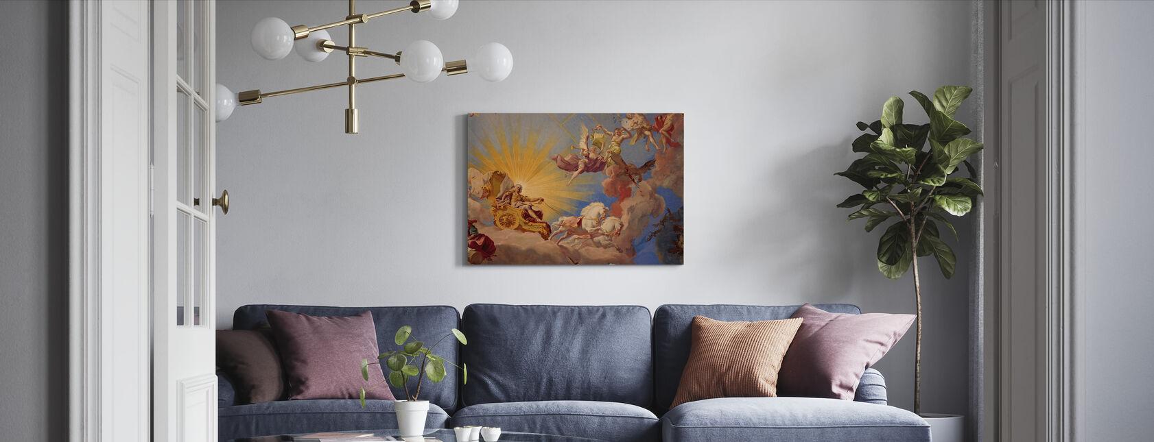 Ceiling Fresco Apotheosis of Emperor Karl VI - Canvas print - Living Room