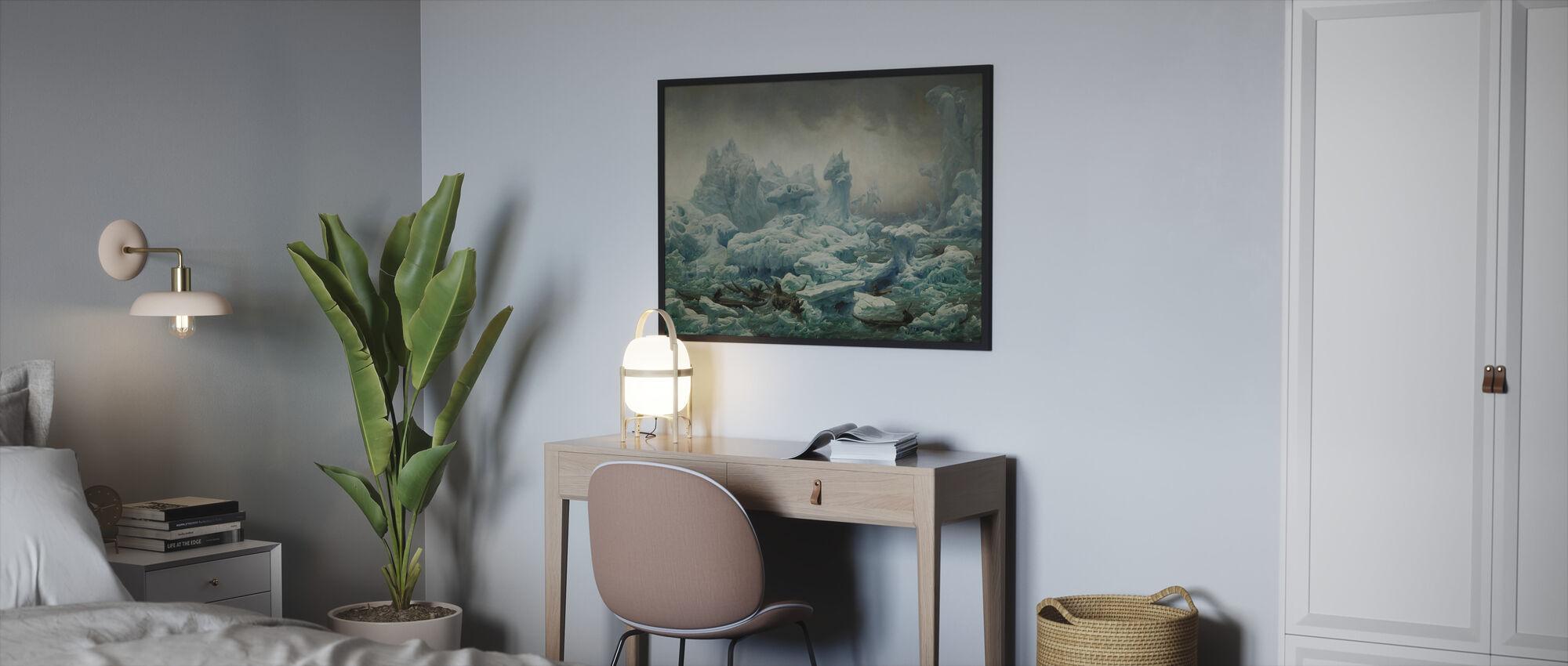 Greenlanders Hunting Walrus - Framed print - Bedroom