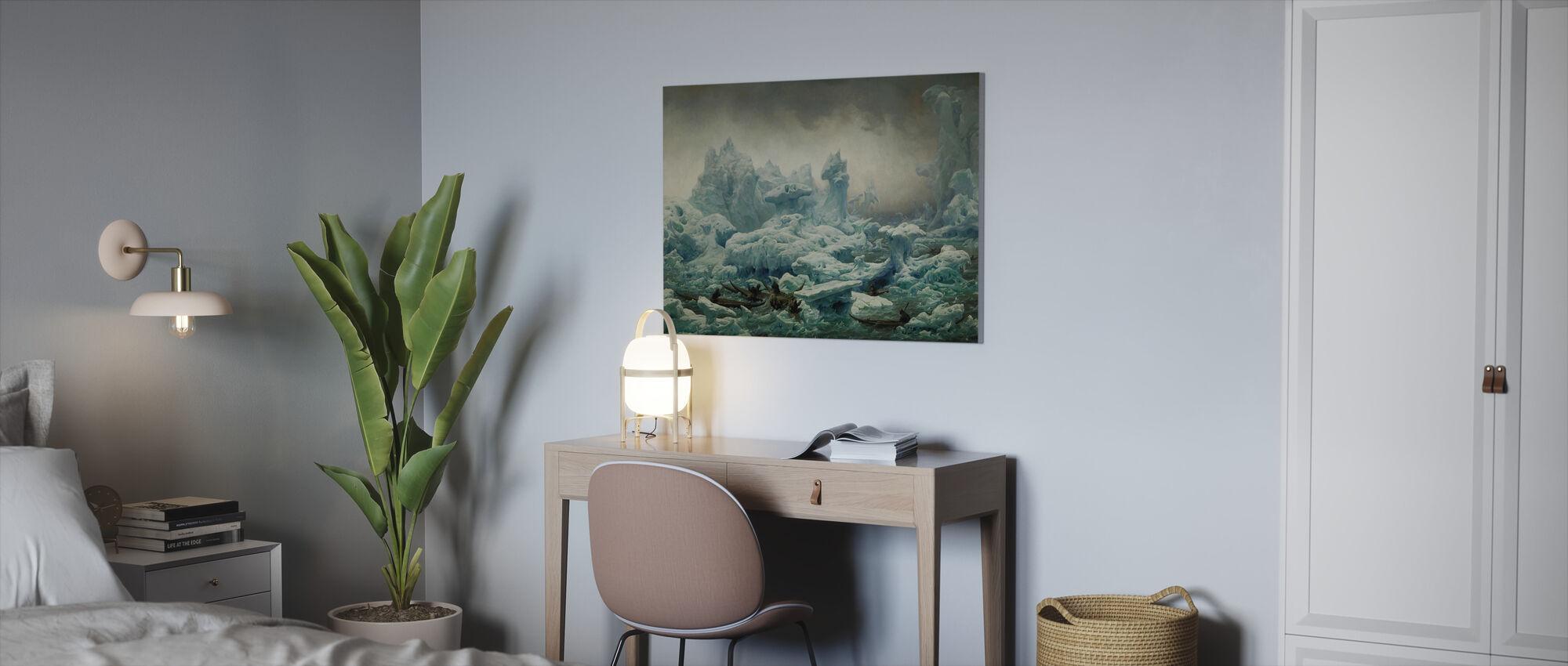 Greenlanders Hunting Walrus - Canvas print - Office