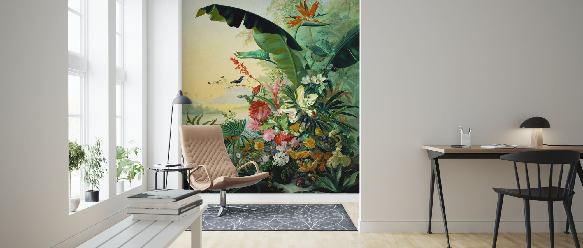 Exotic Flowers - Wallpaper - Living Room