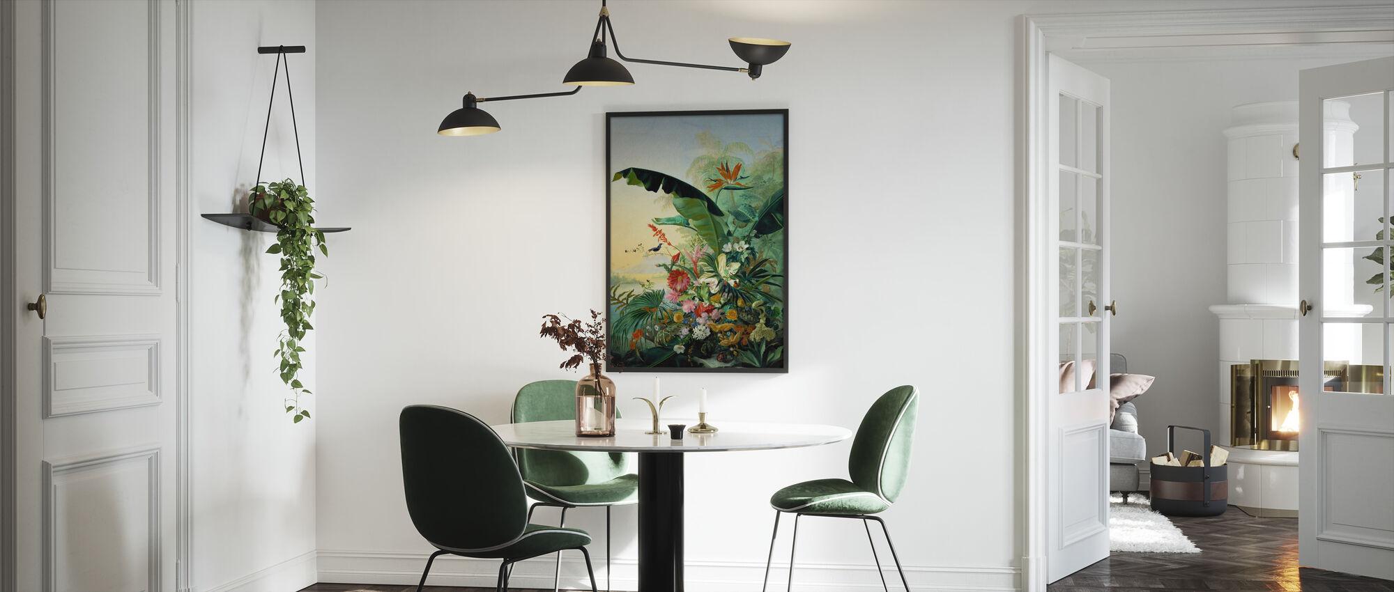 Exotic Flowers - Framed print - Kitchen