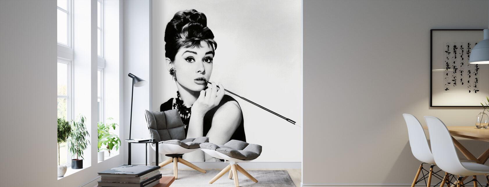 Audrey Hepburn in Breakfast at Tiffanys - Wallpaper - Living Room
