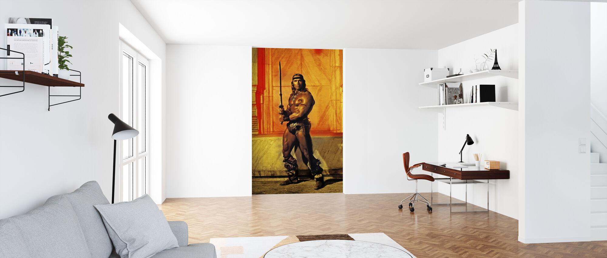 Arnold Schwarzenegger in Conan the Destroyer - Wallpaper - Office
