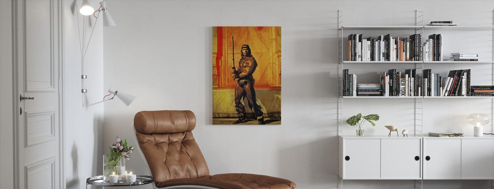Arnold Schwarzenegger in Conan de Vernietiger - Canvas print - Woonkamer