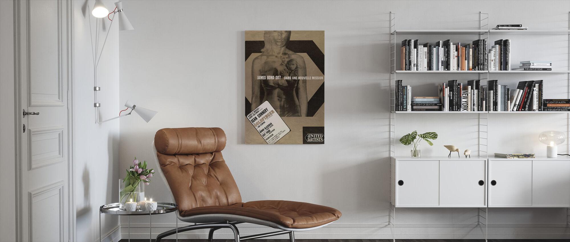 007 James Bond Goldfinger - Canvas print - Woonkamer
