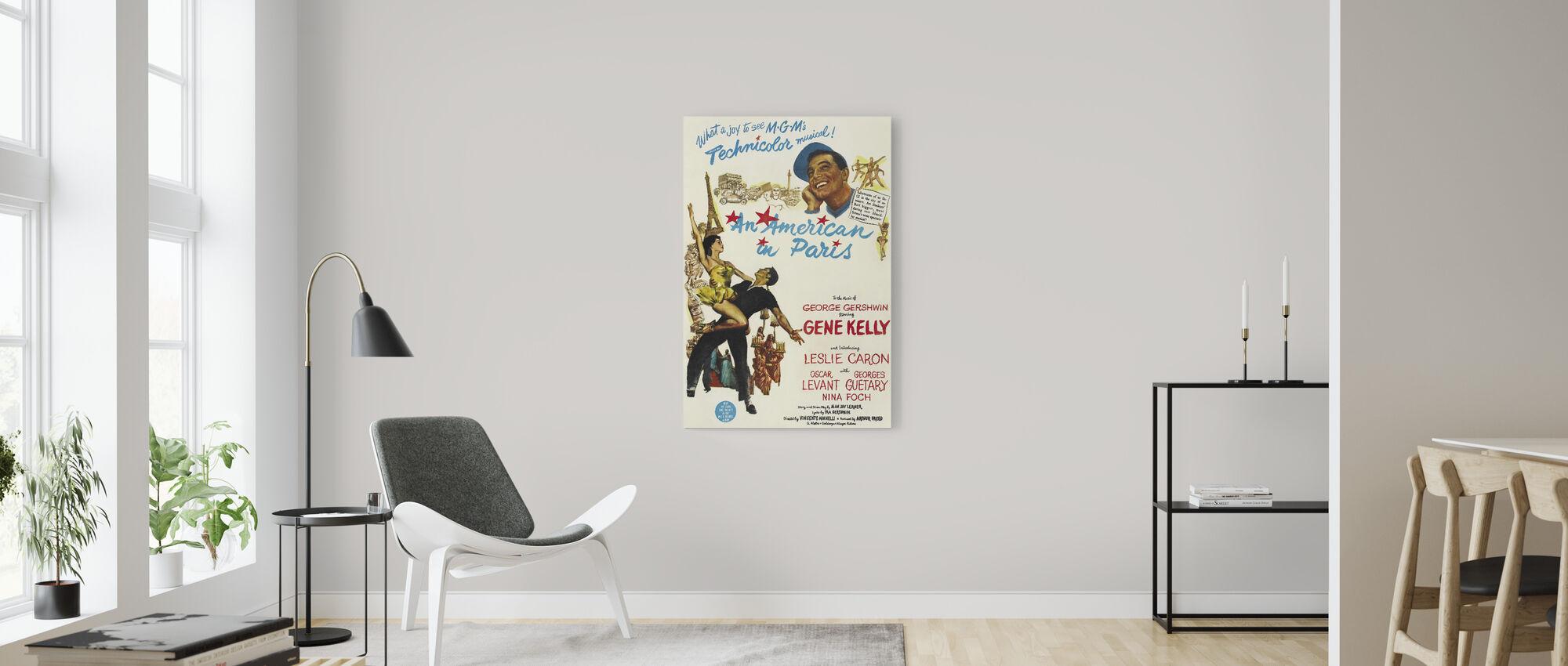 American in Paris - Canvas print - Living Room