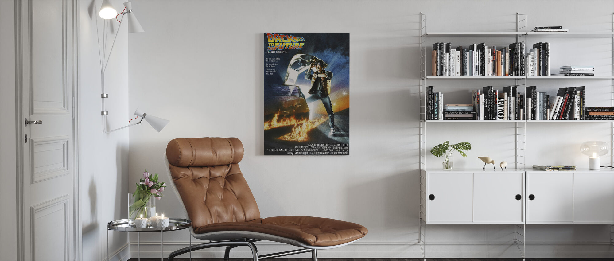 Back to the Future - Canvas print - Living Room