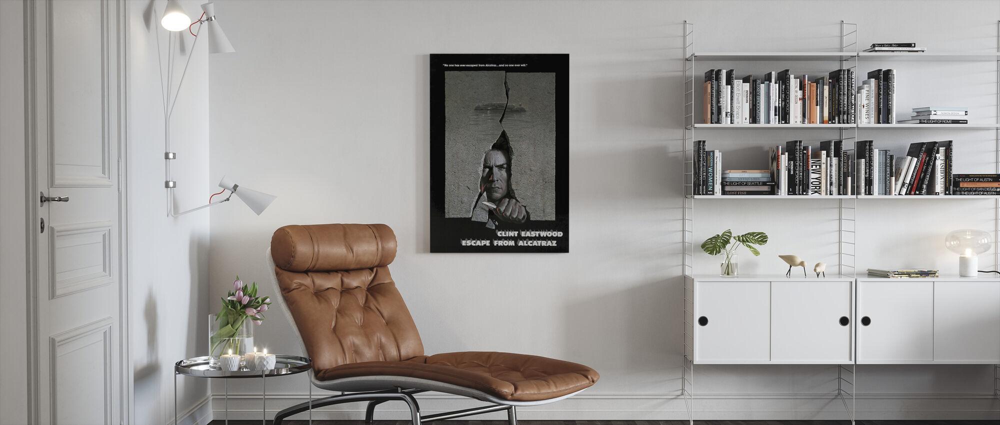 Ontsnappen uit Alcatraz - Canvas print - Woonkamer