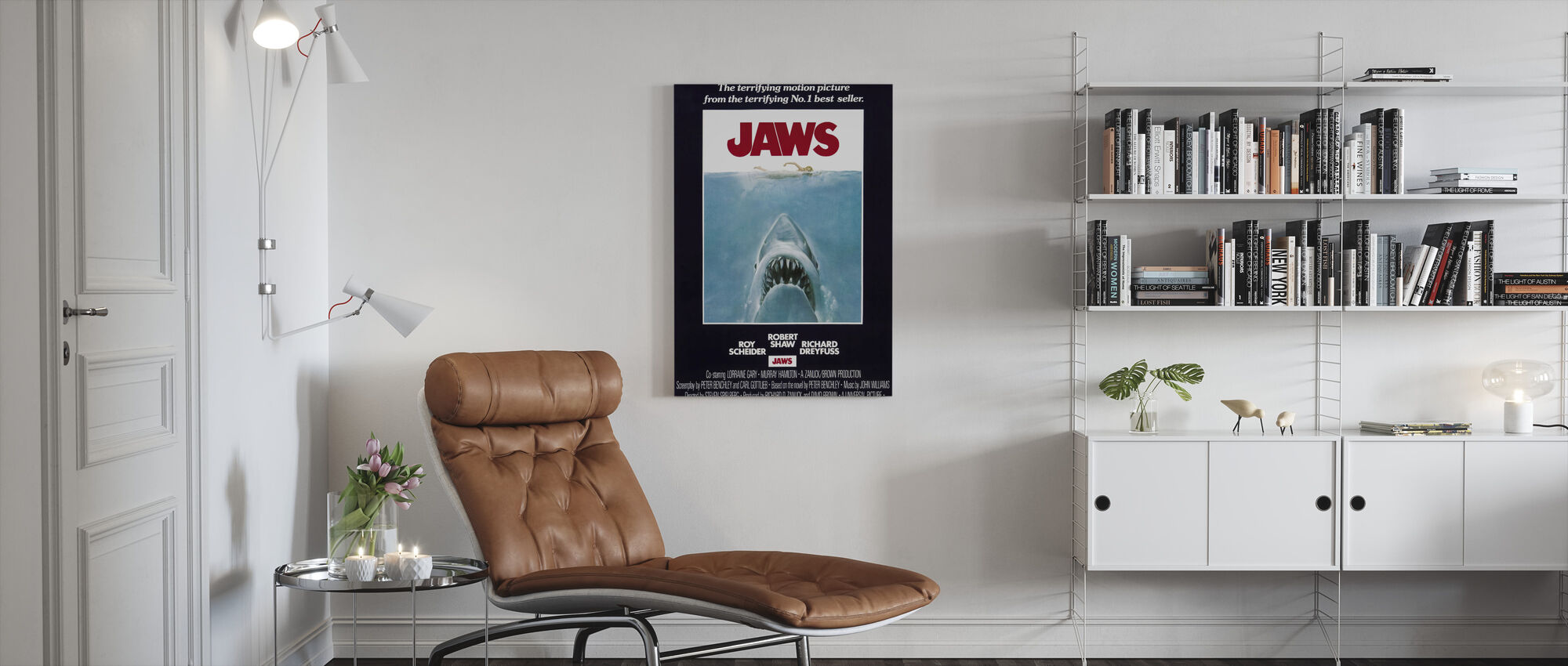 Jaws - Canvas print - Living Room