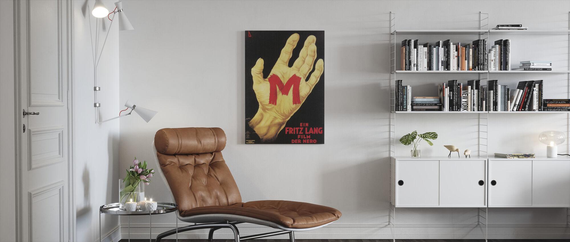 M - Canvas print - Living Room