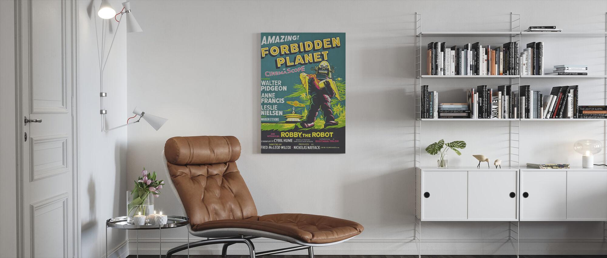 Forbidden Planet - Canvas print - Living Room