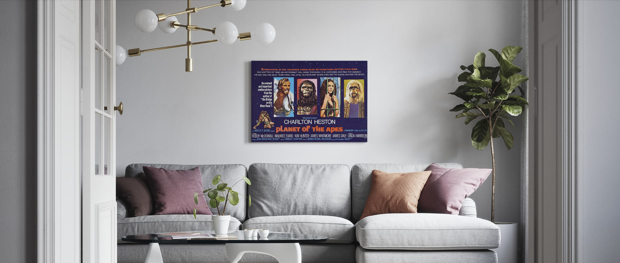 Planet of the Apes - Canvas print - Living Room
