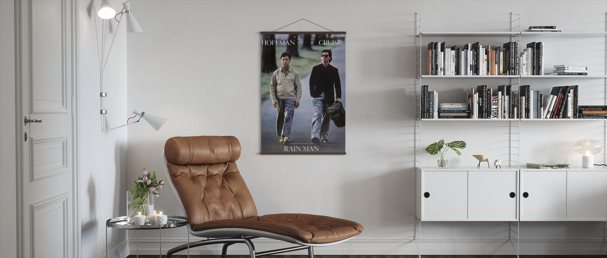 Tom Cruise and Dustin Hoffman in Rain Man - Poster - Living Room