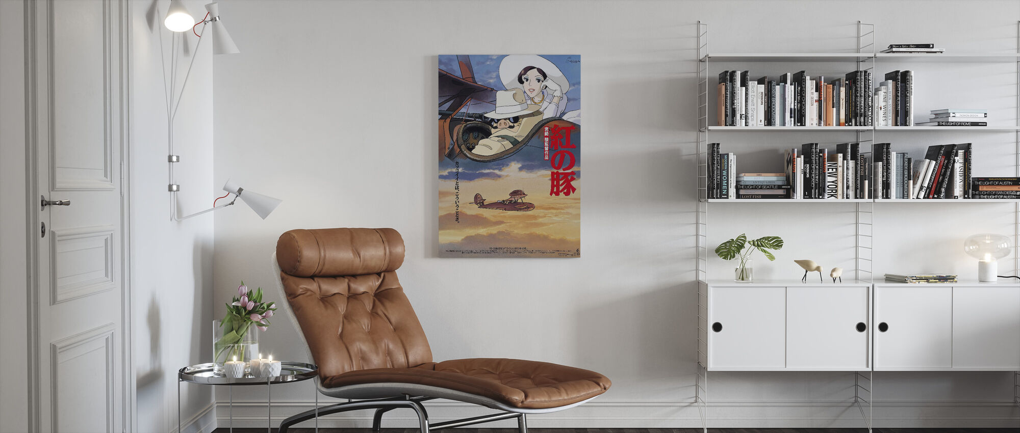 Crimson Pig - Canvas print - Living Room
