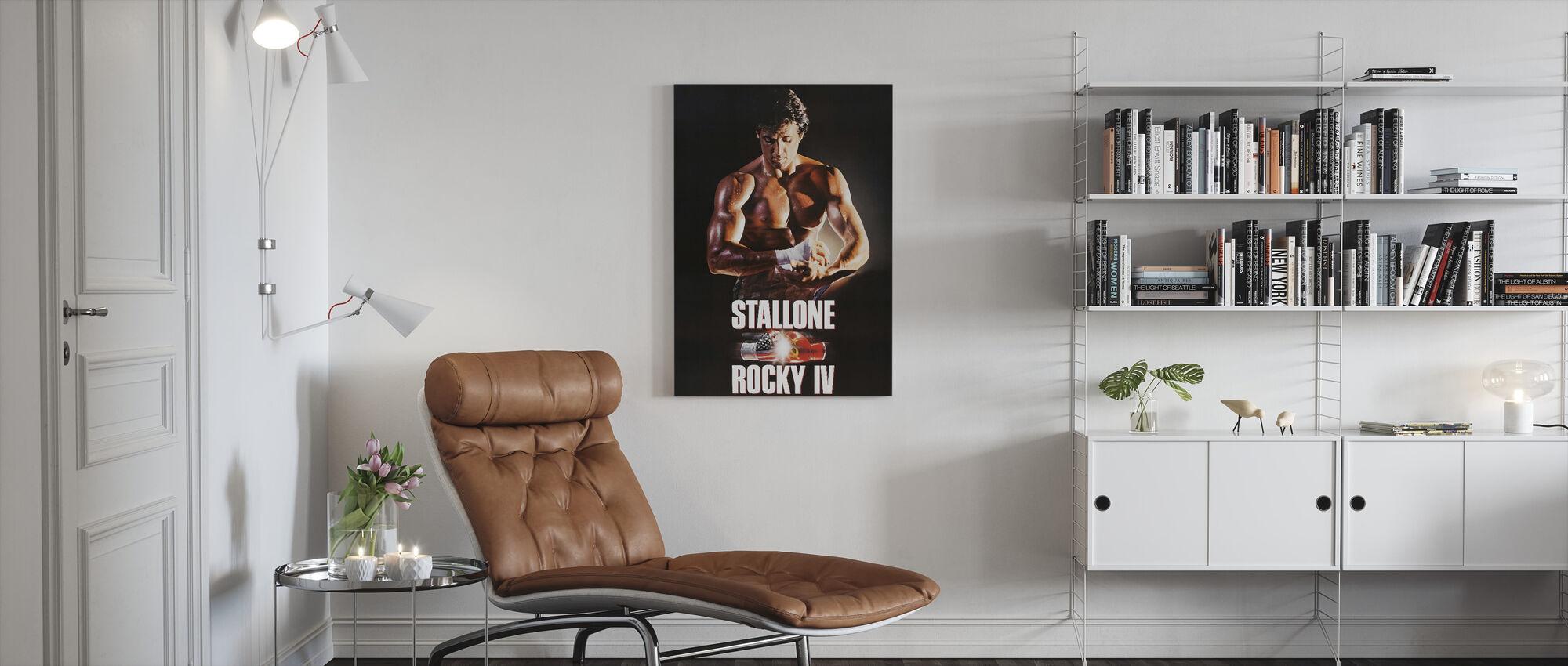 Sylvester Stallone en Rocky IV - Lerretsbilde - Stue