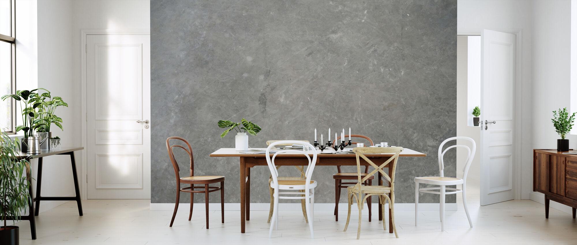 Gray Concrete Wall - Wallpaper - Kitchen