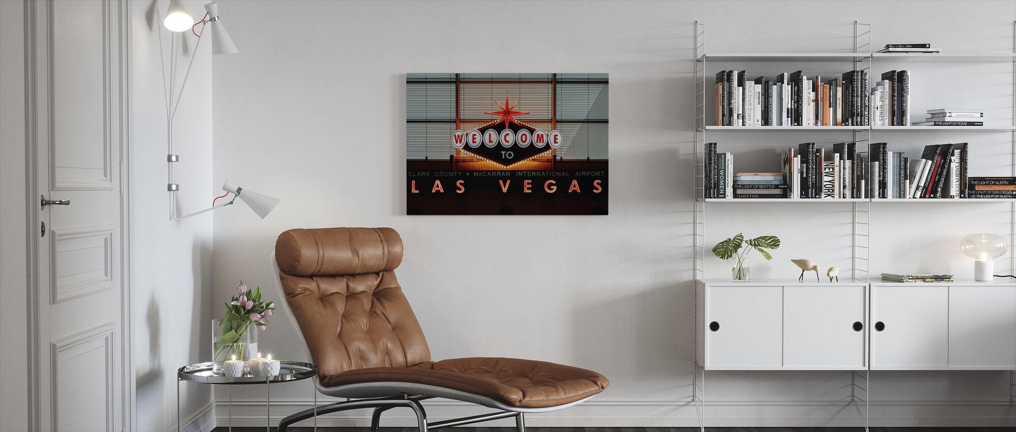 Las Vegas Sign - Canvas print - Woonkamer