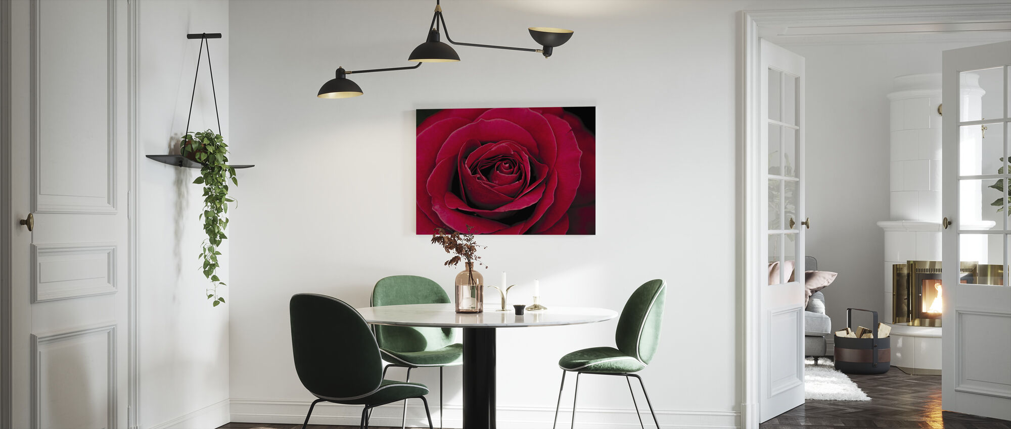 Red Rose - Canvas print - Kitchen